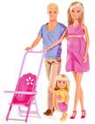 Store dukkehusdukker 29 cm, familie
