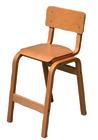 Karlo høy barnestol i beiset bøk, SH: 49 cm