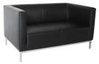 Argo sofa, 2 seter i sort lær