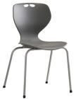 Rio stol, grå m/grått understell. Sittehøyde 45 cm