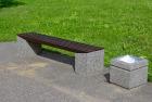 Benk m/betongfundament
