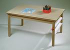 Bordplate til lysbord (127x82cm) bøkfiner
