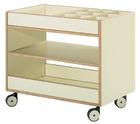 Tavoli Formingsvogn med små rom og ekstra hylle