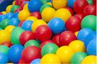 Baller til ballbasseng,(2 sekker) Ø8 cm, mix.farge, 500 stk