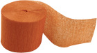 Kreppapir ruller, B:5cm, L:20 m, 20 rl, orange
