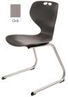 Rio Z stol, grå. Sittehøyde 45 cm