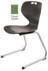 Rio Z stol, oliven grønn. Sittehøyde 45 cm