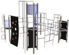 Octo klatrestativ m/4 plattformer i firkant