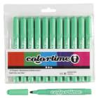 Colortime Tusj, 5mm strek, 12stk, lys grønn