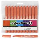 Colortime Tusj, 5mm strek, 12stk, mandarin