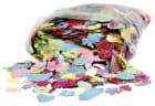 Paljett mix, 15-45mm, 400 g, perlemorsfarger
