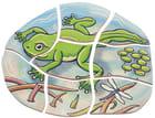 Sett med 5-lagspuslespill Frosk og sommerfugl