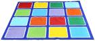 Kvadratisk teppe 2 x 2 m, regnbue