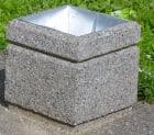 Betong søppelkasse