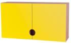 Bleieskap m/gule dører