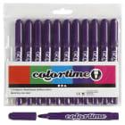 Colortime Tusj, 5mm strek, 12stk, lilla