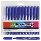 Colortime Tusj, 5mm strek, 12stk, blå