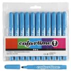 Colortime Tusj, 5mm strek, 12stk, lys blå