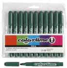 Colortime Tusj, 5mm strek, 12stk, grønn
