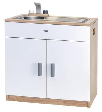 Lekekjøkken m/hvit front, kjøkkenbenk