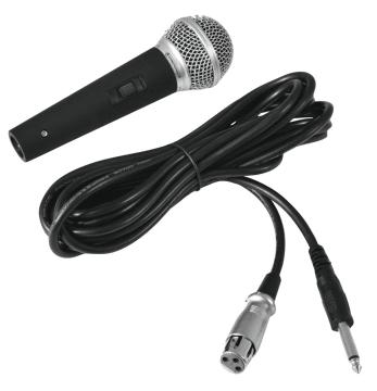 Mikrofon, Dynamic med 6,3 mm. jack plugg