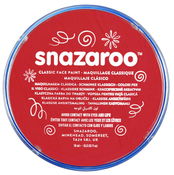 Snazaroo ansiktsmaling 18 ml. Rød