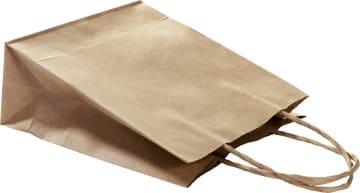 Papirpose m/hank. Str.: 31x24x12 cm. 20 stk. Natur