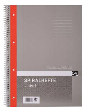 Spiralhefte EMO A4 linjer 60g 70 blad (5 pk)