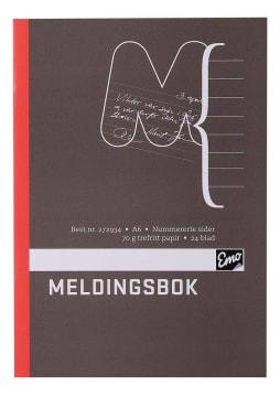Meldingsbok EMO A6 paginert 48 sider (25 pk)