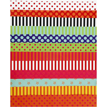 Glanspapir m/print, 32x48cm, 80 g, 100 ass.ark og farger