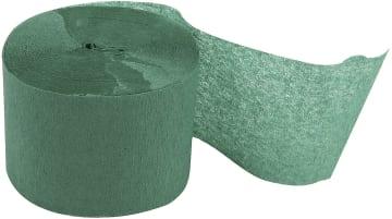 Kreppapir ruller, B:5cm, L:20 m, 20 rl, grønn