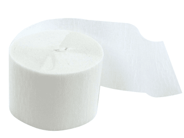 Kreppapir ruller, B:5cm, L:20 m, 20 rl, hvit