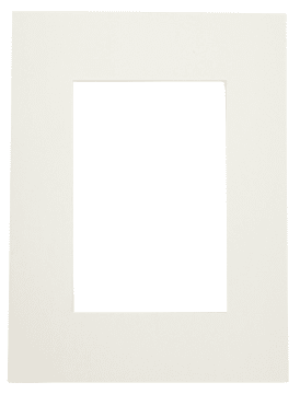 Passepartoutramme, 18x24cm, hull:10x15cm, 5stk, off-white