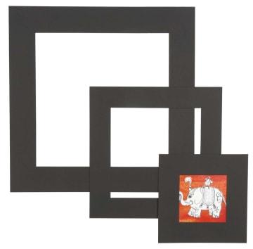 Passepartoutrammer, 0,4mm, 270 g, 75 ass, sort