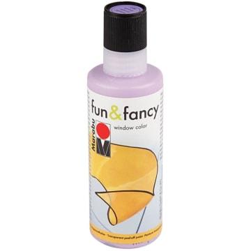 Vindusmaling Fun & Fancy, 80 ml, lilla