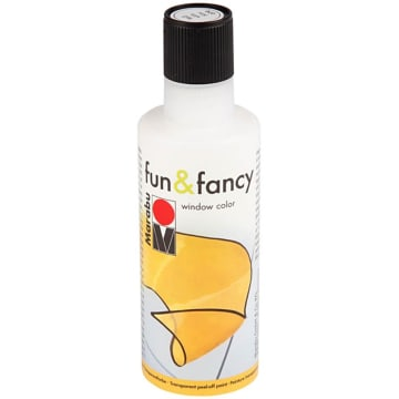 Vindusmaling Fun & Fancy, 80 ml, hvit