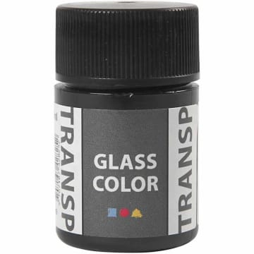 Glass Color Transparent, 35 ml, sort