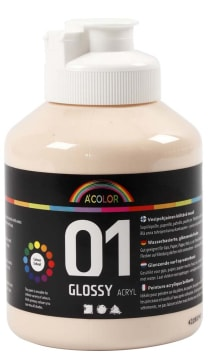 A-Color akrylmaling, 500 ml, lys beige