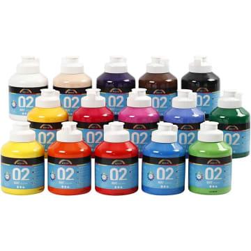 A-Color matt akrylmaling, 15x500 ml