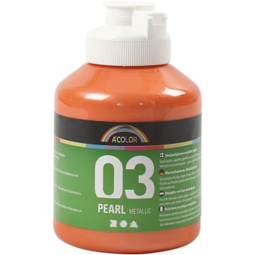 A-Color akrylmaling, 500 ml, orange metallic