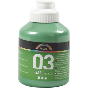 A-Color akrylmaling, 500 ml, lys grønn metallic