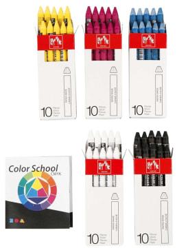 Neocolor II, tykkelse 8 mm, L: 10 cm, primærfarver, Farvesko