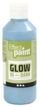Selvlysende maling, 250 ml, lys blå