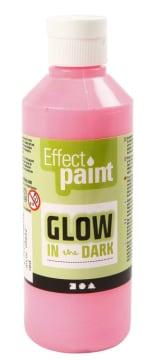 Selvlysende maling, 250 ml, lys rød