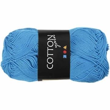 Cotton nr. 8, L:165 m, 6S/4, 50 g, turkis