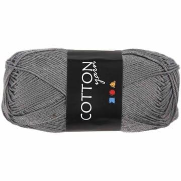 Cotton nr. 8, L:165 m, 6S/4, 50 g, grå