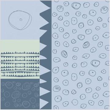 Stoff, B: 145 cm,  140 g/m2, blå, 1m