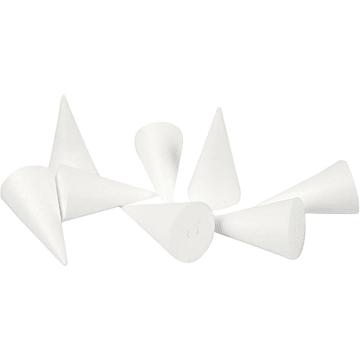 Isoporkjegle, H:11cm, D:5,5cm, 50stk.