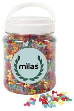 Møllemix, D:10mm, hull:2mm, 700 ml, ass. farger