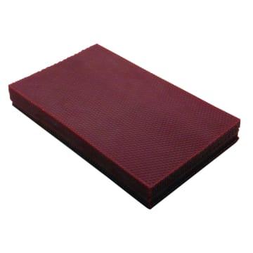 Bivoksplater, 20x33cm, 1stk, vinrød